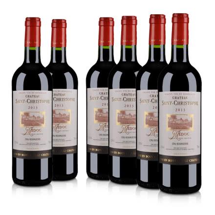 法国红酒整箱圣克里斯多夫堡干红葡萄酒 750ml(6瓶装)