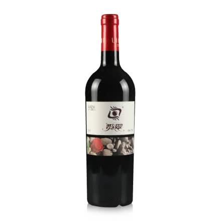 中国宁夏产区国产红酒立兰酒庄览翠赤霞珠干红葡萄酒单支750ml