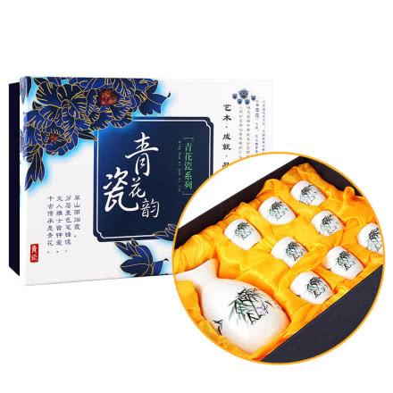 中国风青瓷花韵酒具套装
