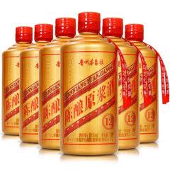 52°贵州茅台镇 利波 陈酿原浆酒12 土豪金光瓶500ml(6瓶装)