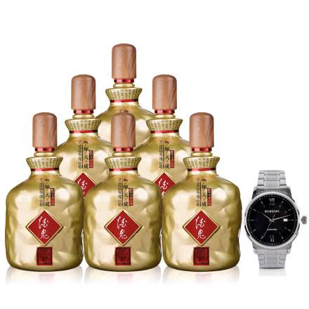 52°酒鬼馥郁天成1L(6瓶装)+罗西尼手表(专属订制版)