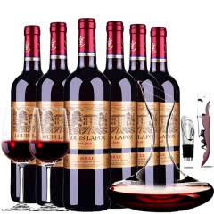 路易拉菲2010珍酿进口红酒窖藏干红葡萄酒红酒整箱醒酒器装750ml*6