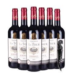 法国原瓶进口13°迪拉图干红葡萄酒整箱750ml*6瓶送海马刀