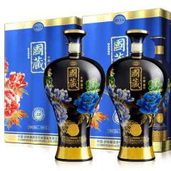 52°泸州御酒国藏30年浓香型白酒大坛装1.5L(2盒装)蓝色版