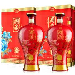 52°泸州御酒国藏30年浓香型白酒大坛装1.5L(2盒装)红色版