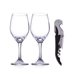 双支酒杯+酒刀套装