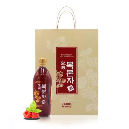 韩国宝海原装进口覆盆子酒750ml*2瓶 高档礼盒 送礼良选 包邮