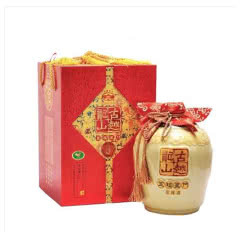 绍兴黄酒古越龙山花雕酒五福盈门 2.5L 坛装酒龄八年黄酒礼盒