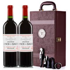 (列级庄·名庄·正牌)法国原瓶进口靓茨伯酒庄2010干红葡萄酒双支礼盒装750ml*2