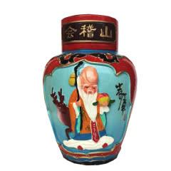 绍兴黄酒会稽山十年陈盒浮雕礼盒一坛2斤老寿星或仙女图案14°半干型