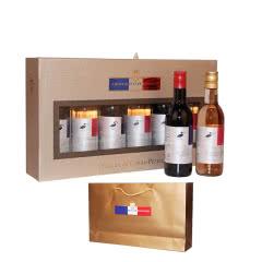 法国红酒圣尚保罗原瓶进口小酒礼盒干红葡萄酒礼盒187.5ml(6瓶装)