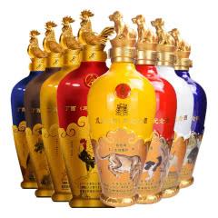 52°五粮液丁酉鸡年生肖纪念酒+戊戌狗年纪念酒500ml*4*2礼盒