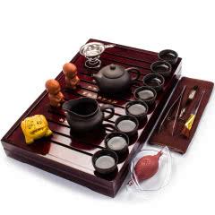 茶具套装 带茶盘家用紫砂功夫茶具茶杯茶壶茶碗茶宠配件茶盘托盘套装 四种款式随机发