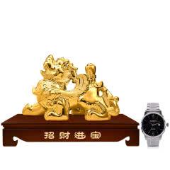 53°汾酒集团招财貔貅(金)2000ml+罗西尼手表(专属订制版)