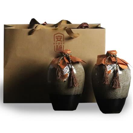 绍兴手工黄酒十八年花雕王礼盒咸亨泰雕风味1Lx2坛 送礼袋