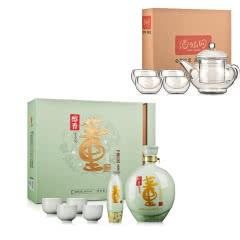 54°董酒醇香礼盒1000ml+茶具五件套(酒仙会员专享)