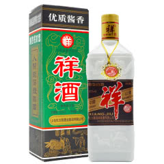 53°祥酒 经典绿方盒老祥酒 酱香型白酒 500ml