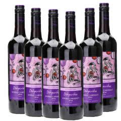 12.5°迪吉里特(神笛)西拉赤霞珠西拉加本纳红葡萄酒  6支装