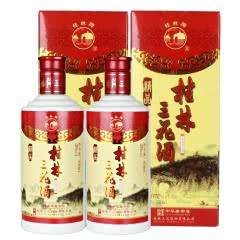 52°桂林特产精品瓷瓶三花酒米香型白酒450ml(2瓶装)