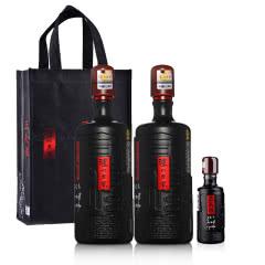 52°泸州老窖三人炫1000ml(双瓶装)+52°泸州老窖三人炫100ml+手提袋