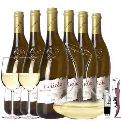 法国原瓶进口红酒教皇新堡芙华隆河干白AOC级干白葡萄酒整箱醒酒器装750ml*6