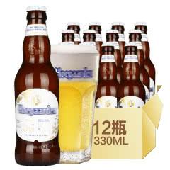 中国区生产比利时风味啤酒Hoegaarden福佳小麦白啤酒330ml(12瓶装)