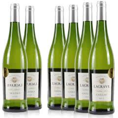 法国红酒整箱法国(原瓶进口)葛拉芙珍珠干白葡萄酒750ml*6支装