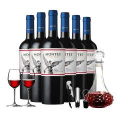 智利红酒原瓶进口干红葡萄酒蒙特斯经典 梅洛红葡萄酒750ml*6瓶