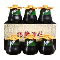 正宗绍兴产黄酒冬酿糯米花雕酒半甜型黄酒整箱礼盒装 500ml*6瓶