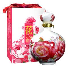 绍兴黄酒 花开富贵15度半干型花雕酒1.5L瓷坛礼盒送礼款