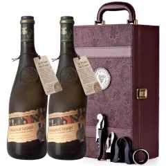 法国原瓶进口红酒教皇新堡芙华隆河丘产区AOC级干红葡萄酒红酒礼盒装750ml*2
