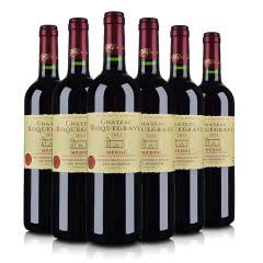 (酒仙直采·中级庄)法国红酒套装洛克维城堡红葡萄酒750ml(6瓶装)