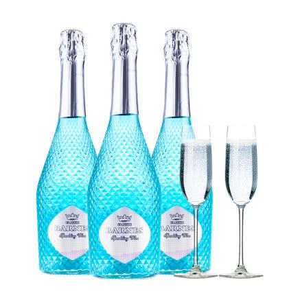 醉梦红酒 蓝莓味果香型气泡酒葡萄酒起泡甜酒三支装女士葡萄酒