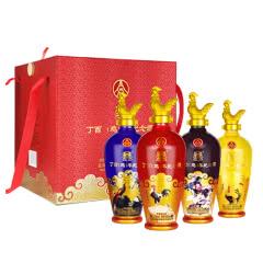 【五粮液特卖】52°五粮液股份丁酉鸡年生肖纪念酒礼盒500ml*4瓶
