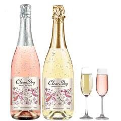 喀雷拉雅尼柯红酒双支白起泡气泡酒半甜型果酒葡萄酒红酒750ml*2支送香槟杯2个送礼特价