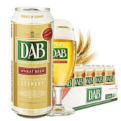 德国进口啤酒大奔小麦白啤酒500ml(24听装)
