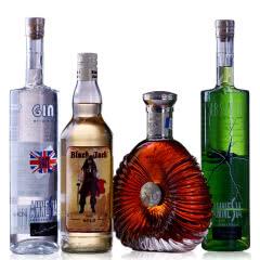 洋酒XO白兰地朗姆酒伏特加苦艾酒鸡尾酒基酒酒吧用酒4支混装