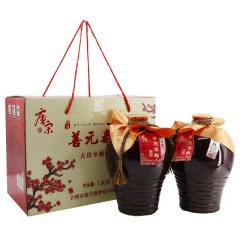 绍兴黄酒 唐宋五年 善元泰雕 3斤1.5L*2 半甜型 黄酒礼盒