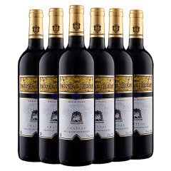 法国原酒进口博蒂威·狮门干红葡萄酒 红酒750ml*6瓶 整箱装