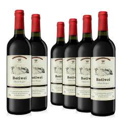 法国原酒进口 博蒂威·西拉菲儿干红葡萄酒 750ml*6