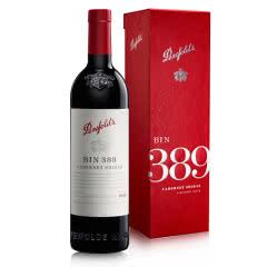 澳洲红酒澳大利亚奔富BIN389澳大利亚进口干红葡萄酒750ml+红色礼盒装