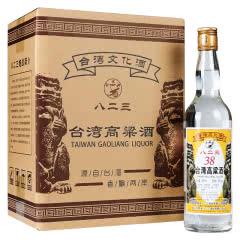 明水堂 台湾高粱酒 38度600ml 整箱6瓶 金门浓香型 低度白酒 八二三炮战纪念酒