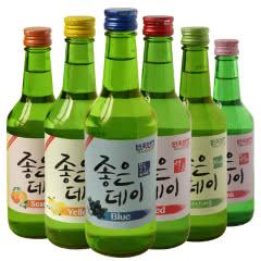 好天好饮烧酒韩国进口配制酒13.5度柚子菠萝蓝莓蜜桃石榴葡萄柚味组合360ml(6瓶装)