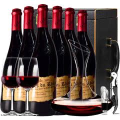 法国原瓶进口红酒教皇新堡芙华安赛伦AOC级干红葡萄酒红酒整箱醒酒器装750ml*6
