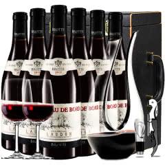 法国原瓶进口红酒罗纳河谷教皇新堡产区波德城堡干红葡萄酒 红酒整箱U型醒酒器装750ml*6