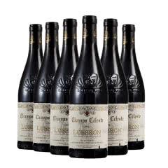 法国红酒原瓶进口天堂小镇吕贝隆红葡萄酒750ml*6瓶整箱装
