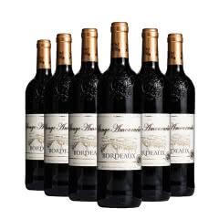 法国红酒原瓶进口爱思堡波尔多红葡萄酒750ml*6瓶整箱装