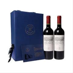 DBR拉菲红酒 红酒礼盒 智利进口巴斯克干红葡萄酒双支蓝色礼盒 750ml(2瓶装)