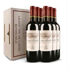 DBR拉菲红酒整箱 智利原瓶进口巴斯克卡本妮苏维翁干红葡萄酒 750ml(6瓶装)
