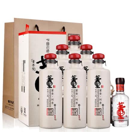 54°董酒何香750ml(6瓶装)+46°董酒(100)100ml(乐享)